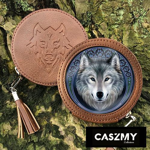 Lunar Wolf - Wolf Round Coin Purse