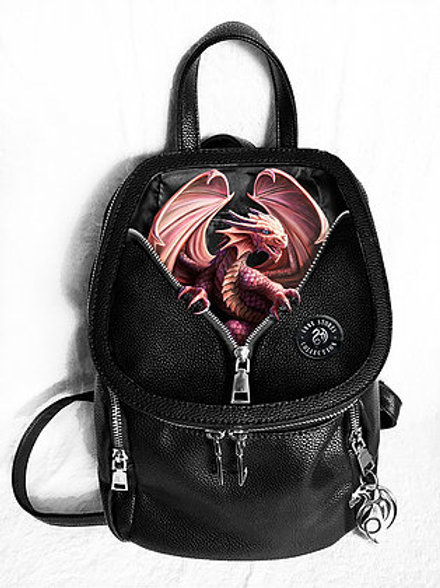 Peeping Dragon Backpack - Anne Stokes 3D Lenticular