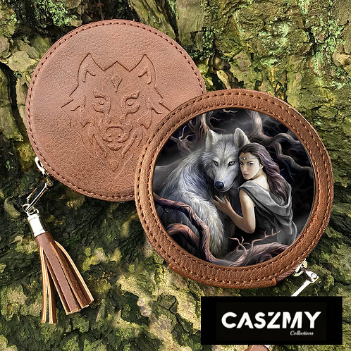 Soul Bond - Wolf Round Coin Purse