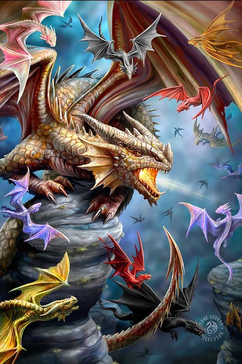 Anne Stokes 'Dragon Clan' Postcard 3D Lenticular