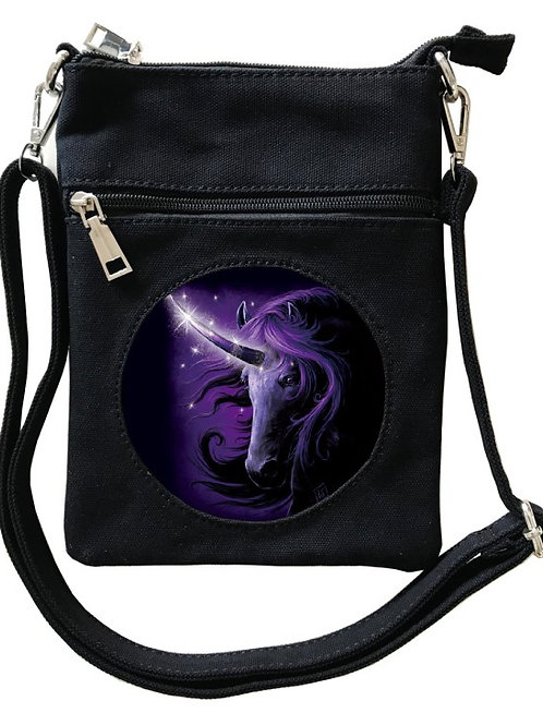 Black Magic Unicorn Cross-Over Bag - SheBlackDragon 3D Lenticular