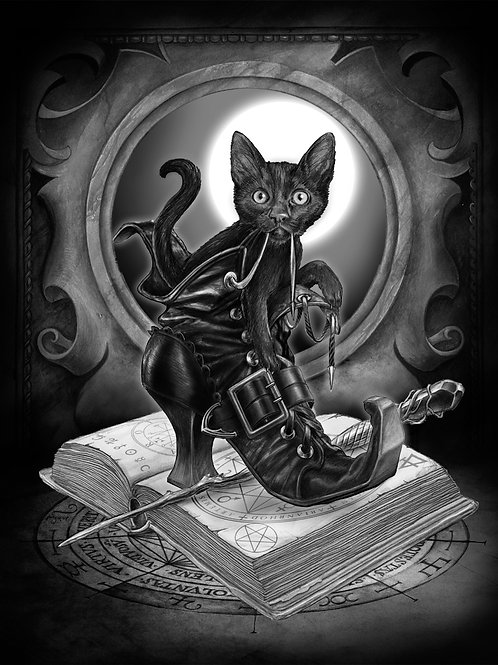 Alchemy Official 'Midnight Mischief' Postcard 3D Lenticular
