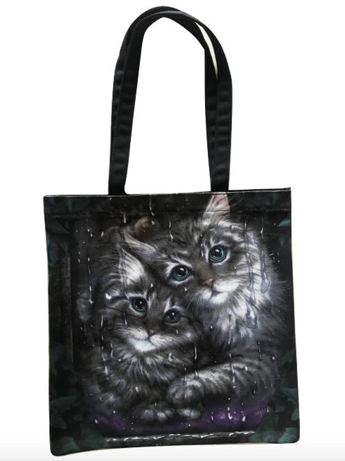 SheBlackDragon 'Longing' Cat Tote Bag