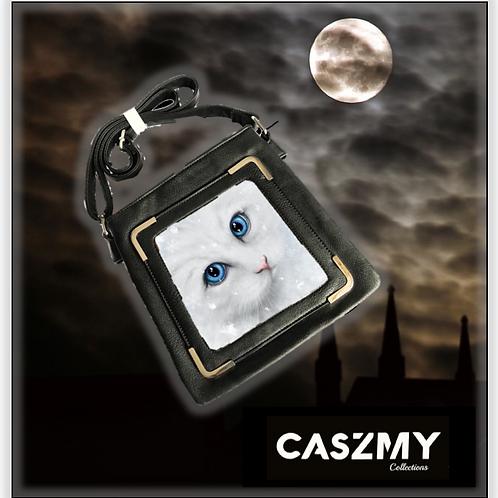 Winter Cat - 3D Lenticular Side Bag