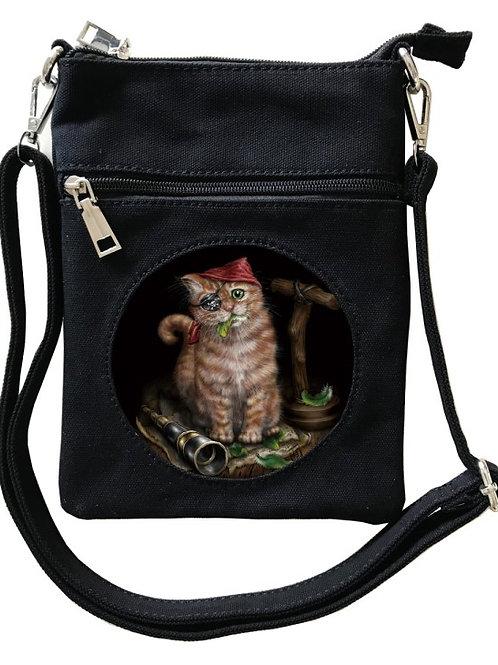 Pirate Kitten Cross-Over Bag - SheBlackDragon 3D Lenticular