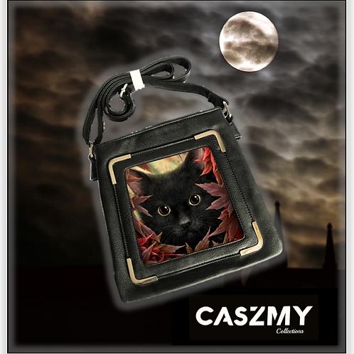Autumn Cat - 3D Lenticular Side Bag