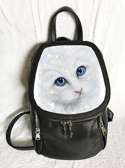 Winter Cat Backpack - SheBlackDragon 3D Lenticular