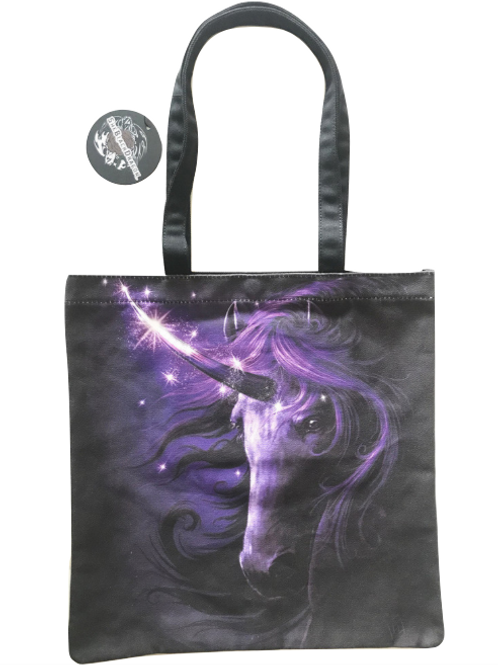 SheBlackDragon 'Black Magic' Unicorn Tote Bag