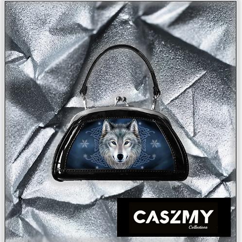 Lunar Wolf 3D Lenticular Evening Bag