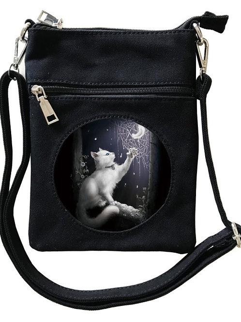 Snow Kitten Cross-Over Bag - SheBlackDragon 3D Lenticular