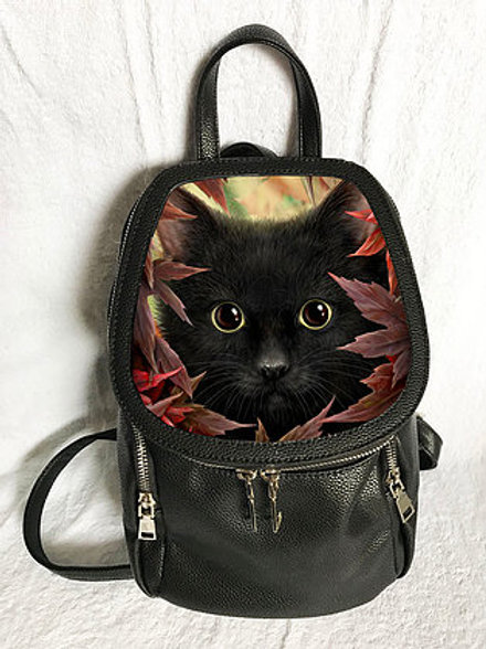 Autumn Cat Backpack - SheBlackDragon 3D Lenticular