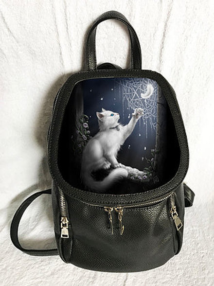 Snow Kitten Backpack - SheBlackDragon 3D Lenticular