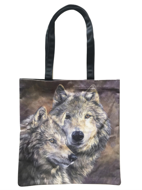 'The Bond' Wolf Tote Bag