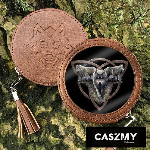 Wolf Trio - Wolf Round Coin Purse