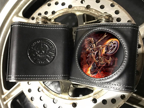 Anne Stokes Hell Rider Hip Flask - 3D Lenticular