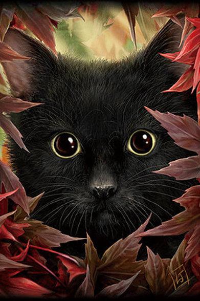 Autumn Cat Postcard - SheBlackDragon 3D Lenticular