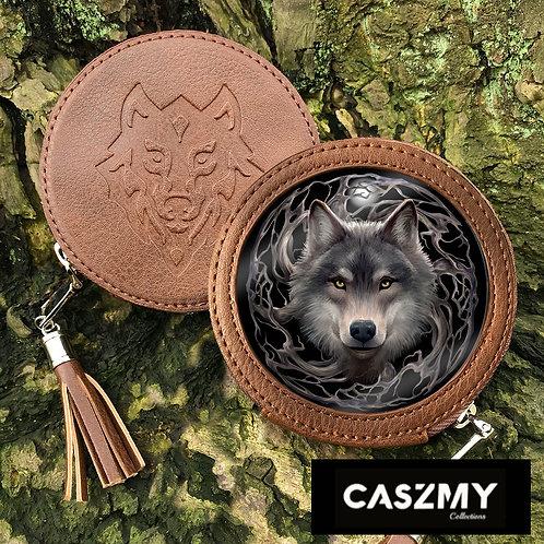 Night Forest - Wolf Round Coin Purse