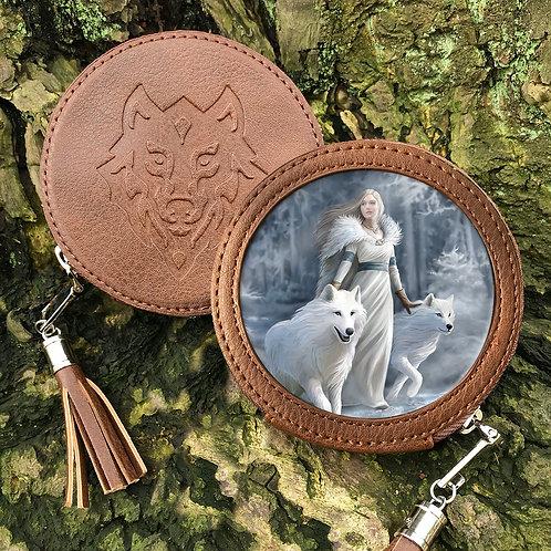 Winter Guardian - Wolf Round Coin Purse