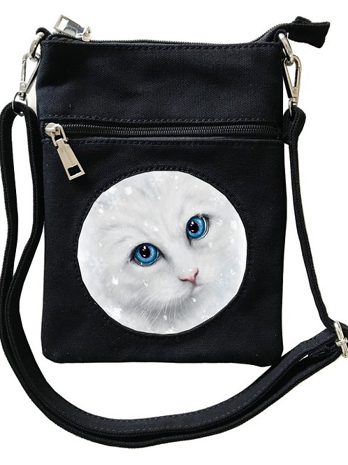 Winter Cat Cross-Over Bag - SheBlackDragon 3D Lenticular