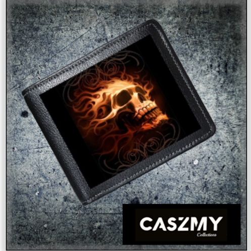 Fire Skull - 3D Lenticular Wallet