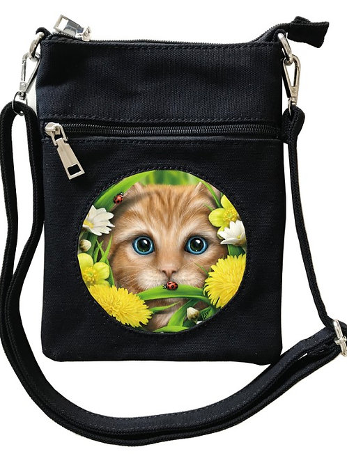 Summer Cat Cross-Over Bag - SheBlackDragon 3D Lenticular