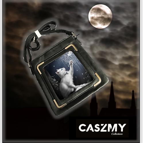 Snow Kitten - 3D Lenticular Side Bag