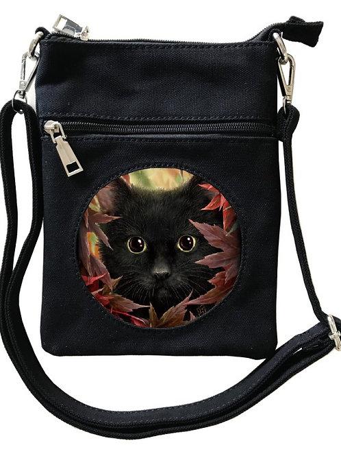 Autumn Cat Cross-Over Bag - SheBlackDragon 3D Lenticular