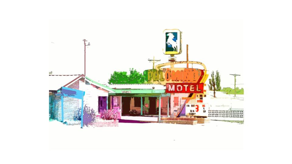 abstract palomino motel