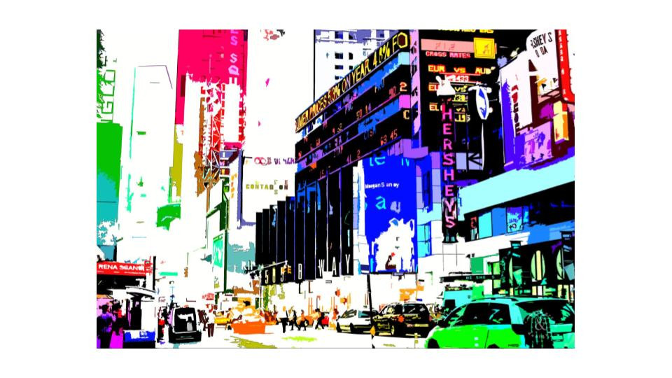 times square in color