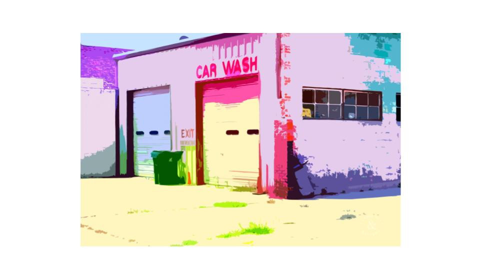 colored car wash