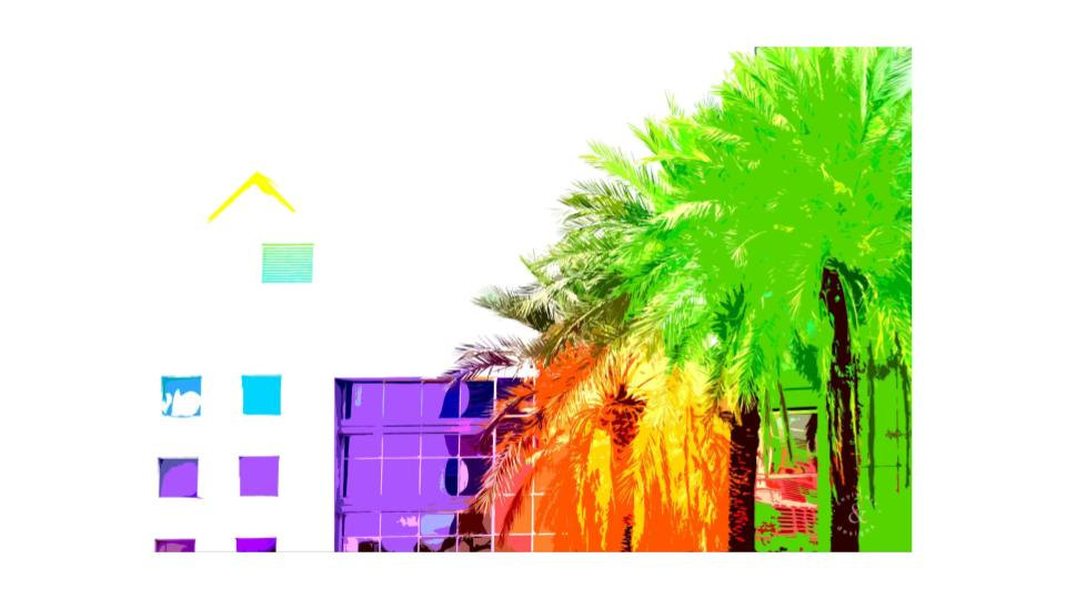 architecture and palms in vegas
