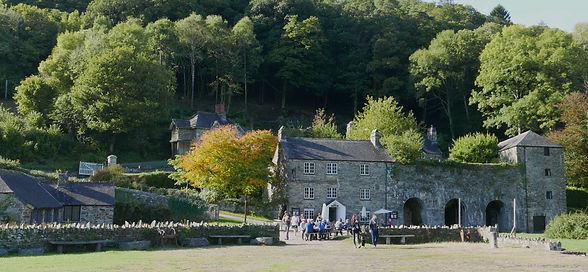 The Edgecumbe Arms at Cotehele in Cornwall, now converted into a cafe