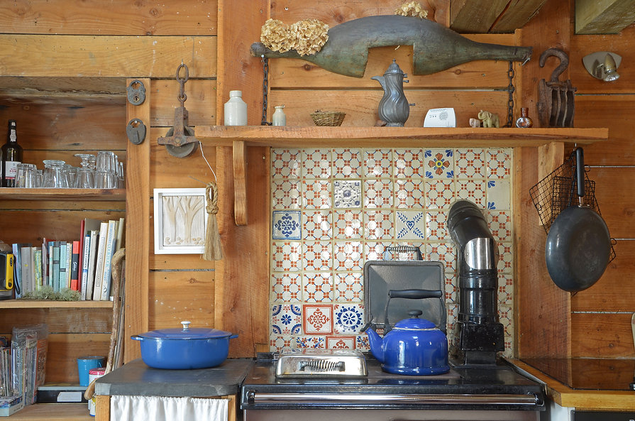 The Rayburn in the cottage's kitchen