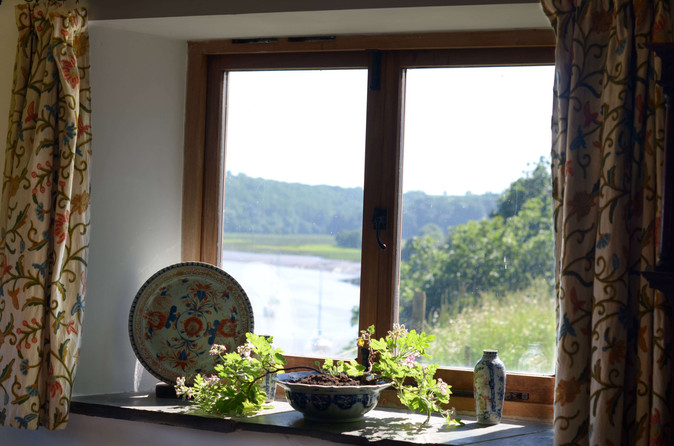 Geraniums by the window