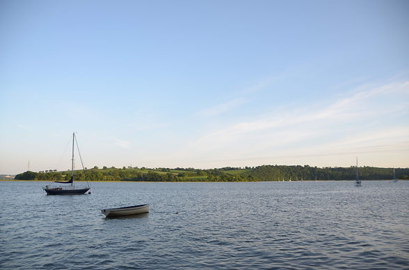 The view across the River Tamar at high tide