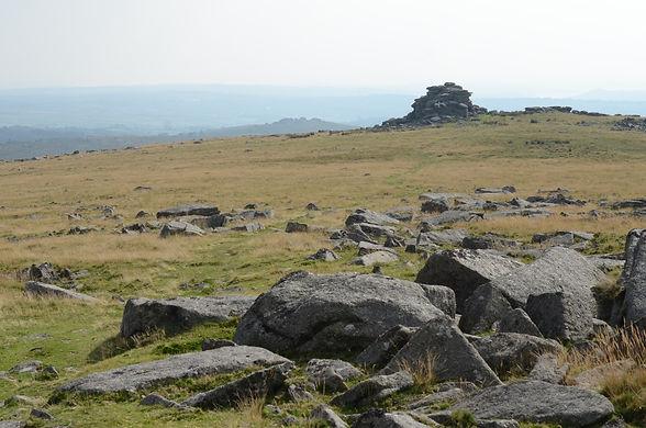 Views across Dartmoor in Devon