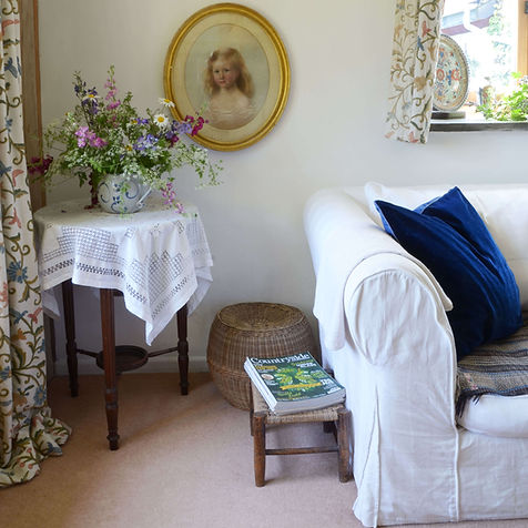 Fresh flowers in the Count House self catering cottage in Devon