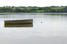 Rowing boat on the river