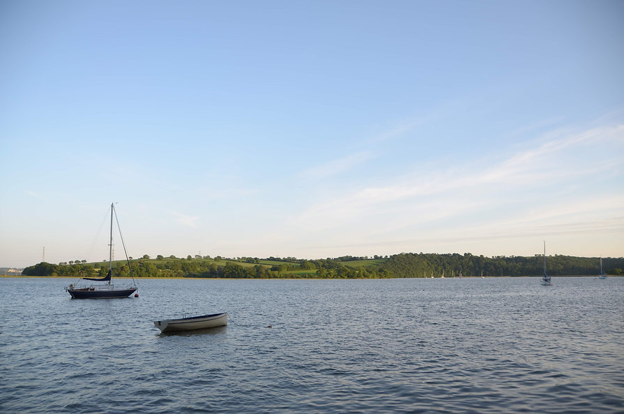 The view from the jetty at the Count House in the Tamar Valley