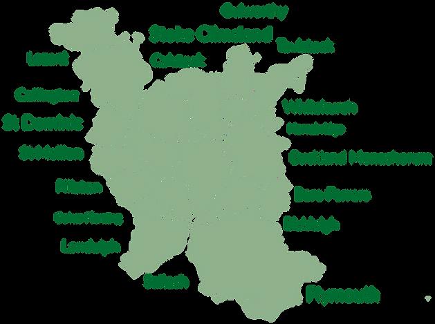 Parish map for deliveries