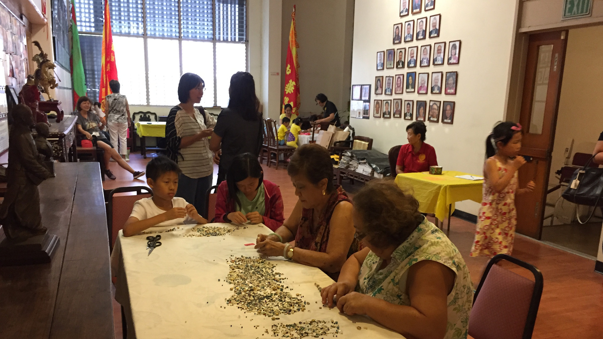 Participants enjoying the crafts