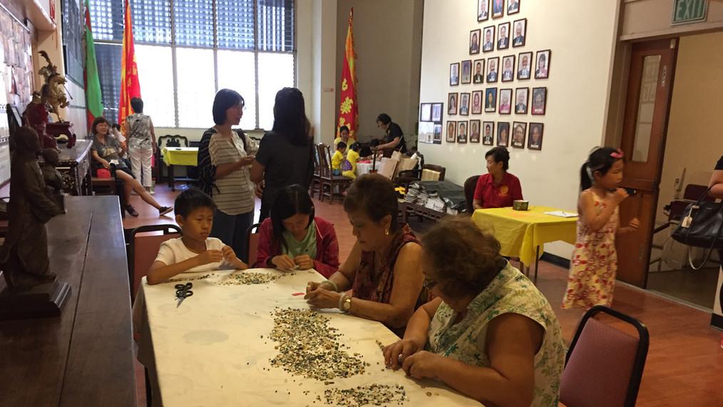 Participants enjoying the crafts