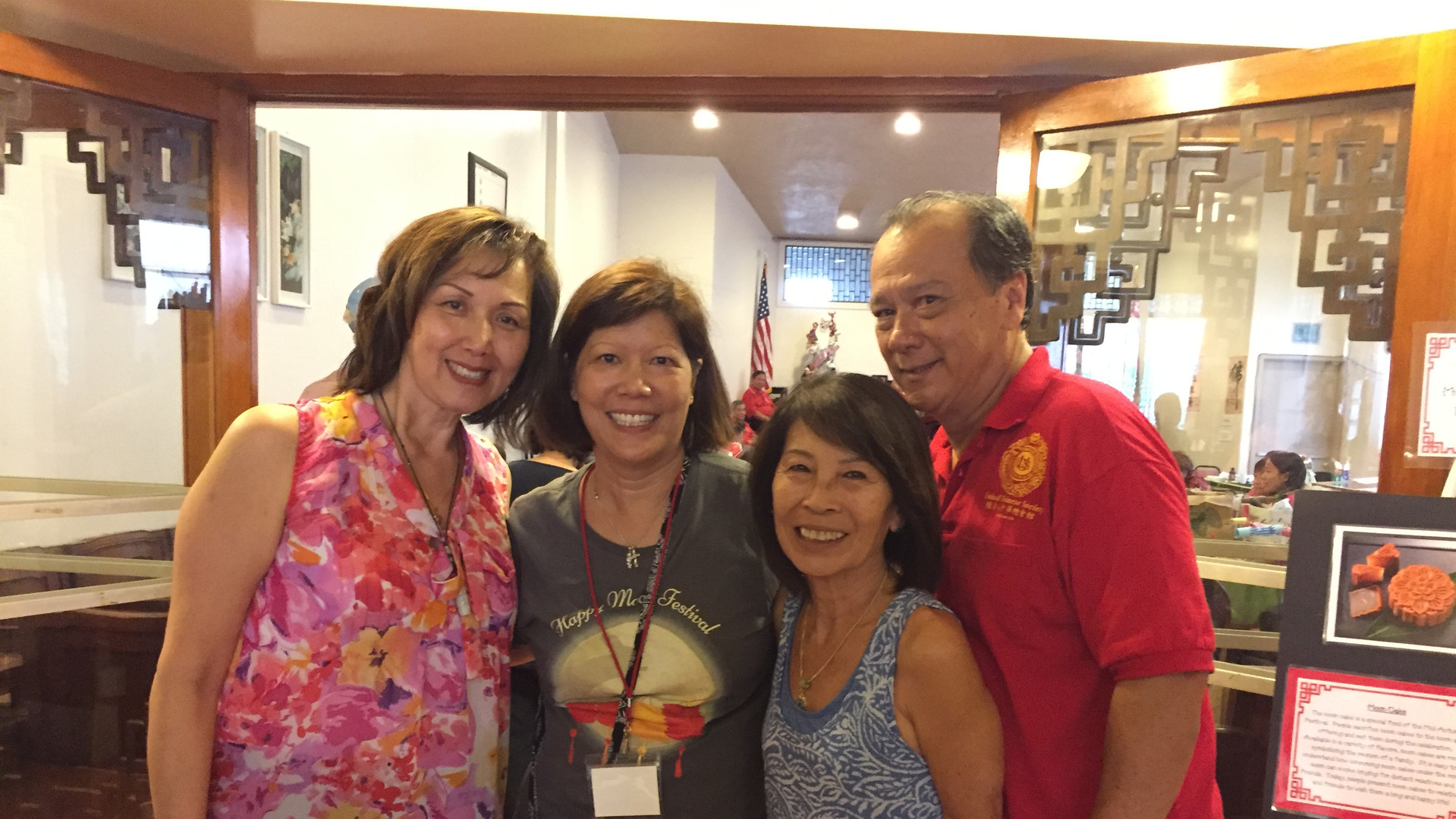 Volunteers Mona, Edna, Kenny, and Larry