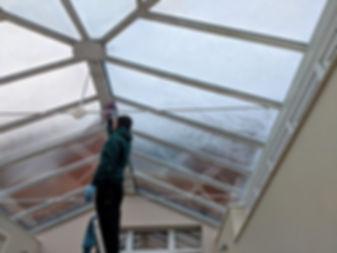 Interior conservatory clean in Dorset.