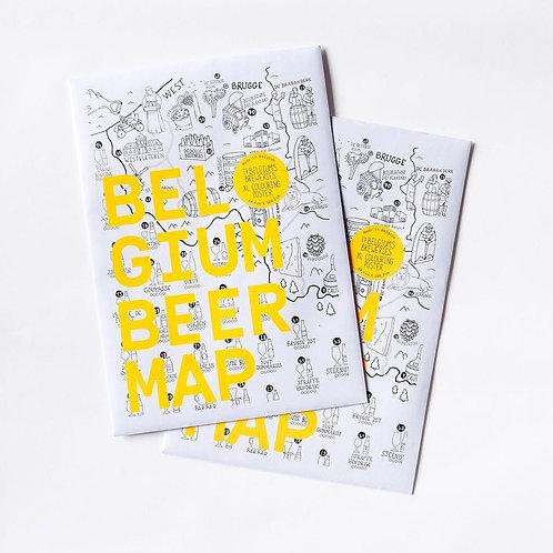 Coloriage Poster Bières Belges - Happy Mappy