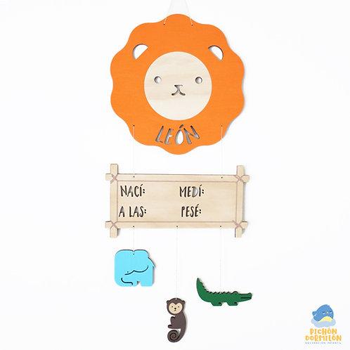 """Letrero de Nacimiento """"Safari"""" Personalizado"""