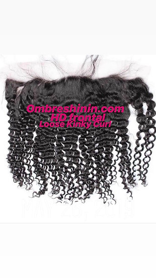 HD Lace Frontal Loose Kinky Curl