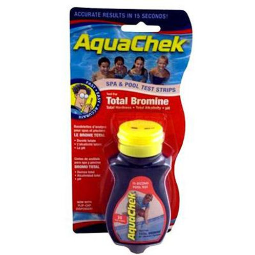 AquaChek Red 4-in-1 Test Strips - For Bromine