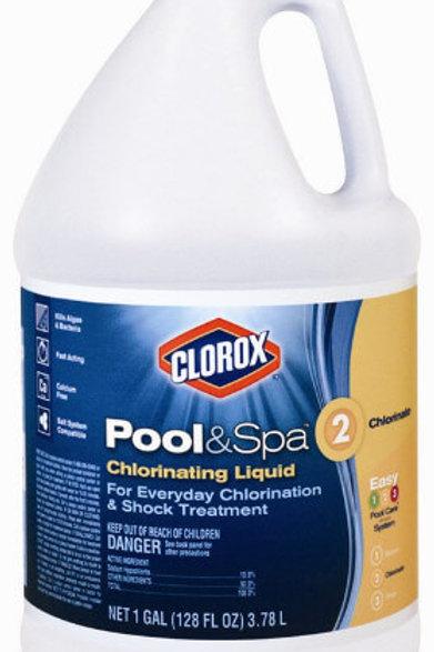 Liquid Chlorine 10.5%, 3 x 1 Gal