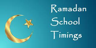 Ramadan School Timings